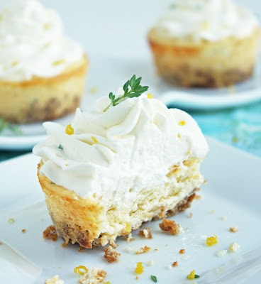 Low Carb Mini Lemon Cheesecakes