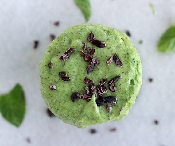 Green Mint Choc Chip Protein Smoothie