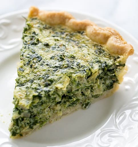 Low Carb Artichoke & Spinach Tart